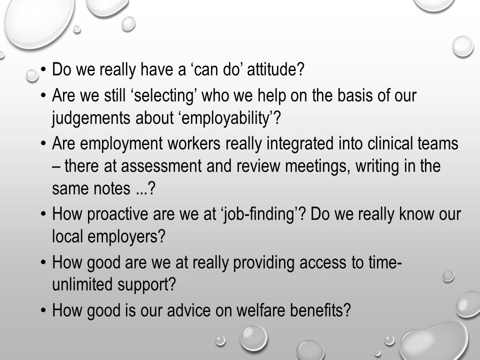 We also need to ask 'what sort of support within the 8 principles.