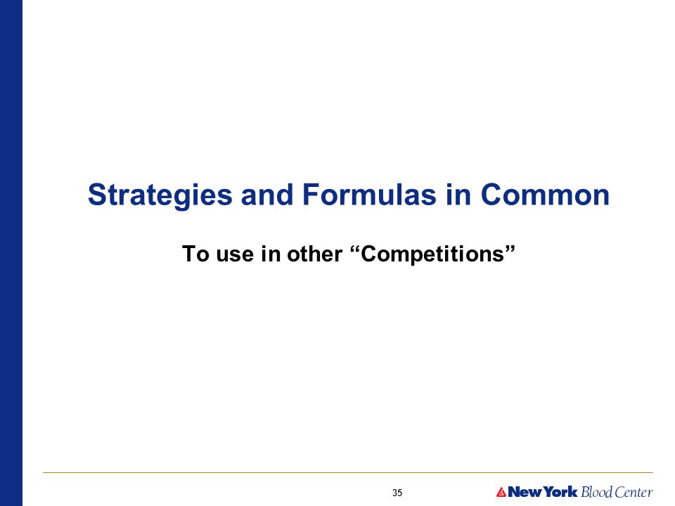 35 Strategies and Formulas in Common To use in other Competitions