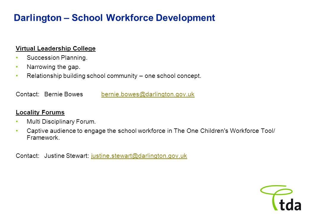 Darlington – School Workforce Development Virtual Leadership College Succession Planning.