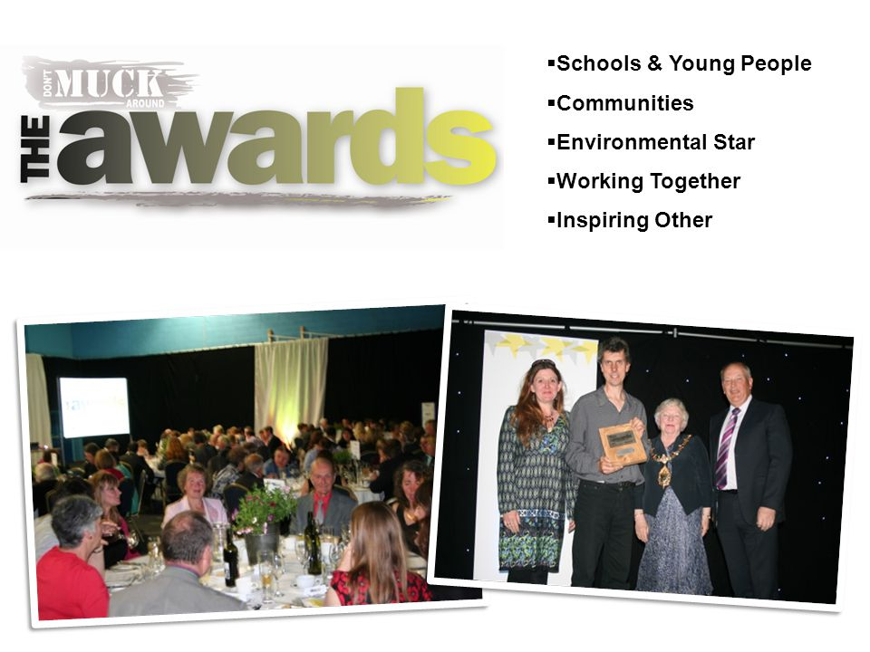  Schools & Young People  Communities  Environmental Star  Working Together  Inspiring Other
