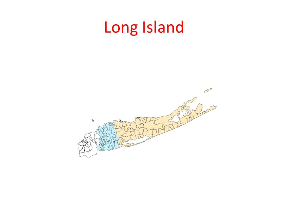 Long Island History 19 th Century – century of the Cities 20 th Century – century of the Suburbs 1898 – consolidation of New York City Queens elected to be part of the city Nassau elected to be separate Suburban government developed