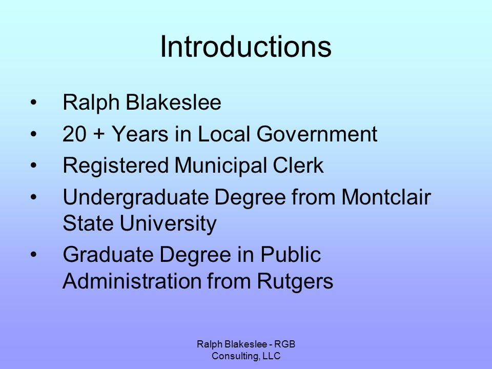 Ralph Blakeslee - RGB Consulting, LLC
