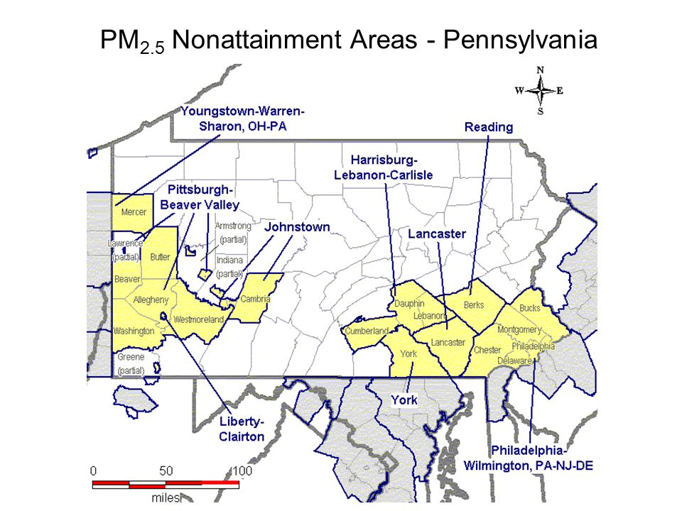 PM 2.5 Nonattainment Areas - Pennsylvania