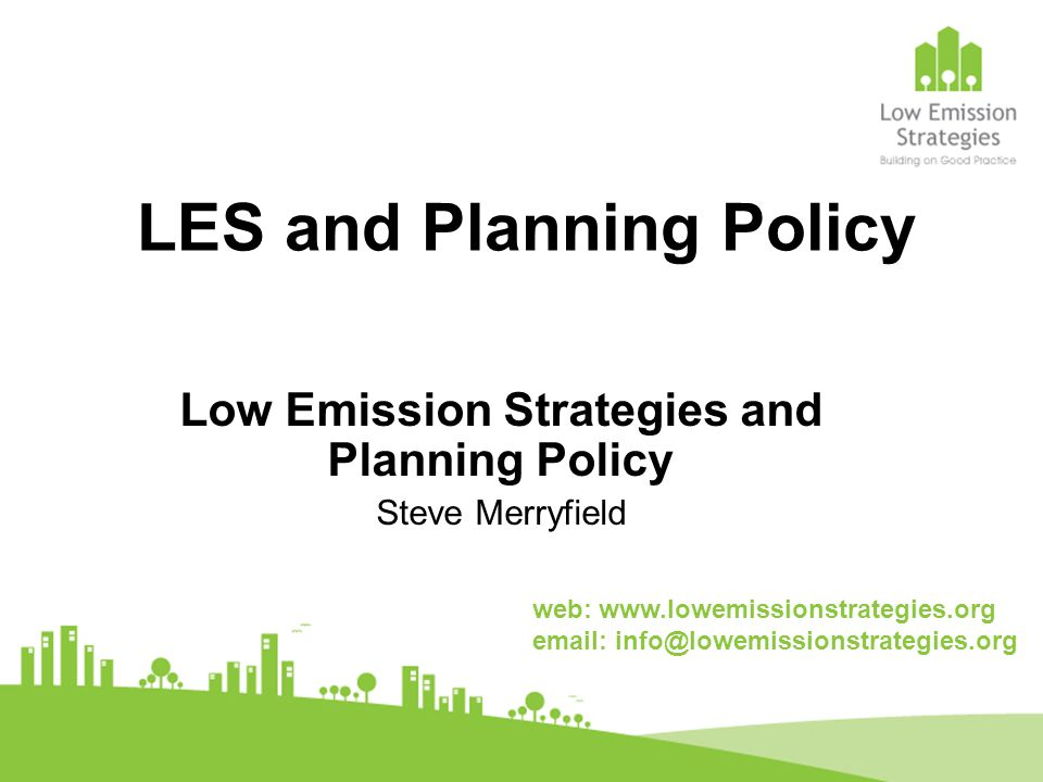 Sheffield City Council Produced 'Air Pollution and Land Use Planning Guide' Protection of air quality in Local Development Framework (LDF) Preparing Low Emissions SPD LES agreements in place – electric charging points, low emission priority parking, euro standards for on-site vehicles Partnership commitment to Care4air