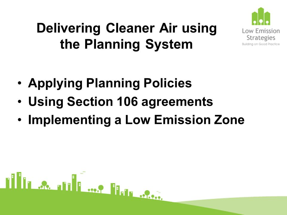 Planning Obligations to be achieved via Section 106 Agreement Provision of a car club 500 residential spaces annual charge £0 - £300 depending on VED rating of car Controls on parking permits and transfers Ten electric vehicle charging points within the residential car park 50% of delivery vehicles and 50% Home delivery vehicles to meet Euro 5 rating by store opening and to be using bio-fuel.