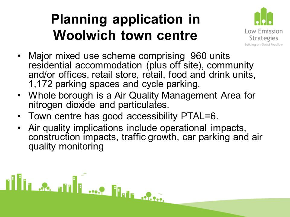 Planning application in Woolwich town centre Major mixed use scheme comprising 960 units residential accommodation (plus off site), community and/or o