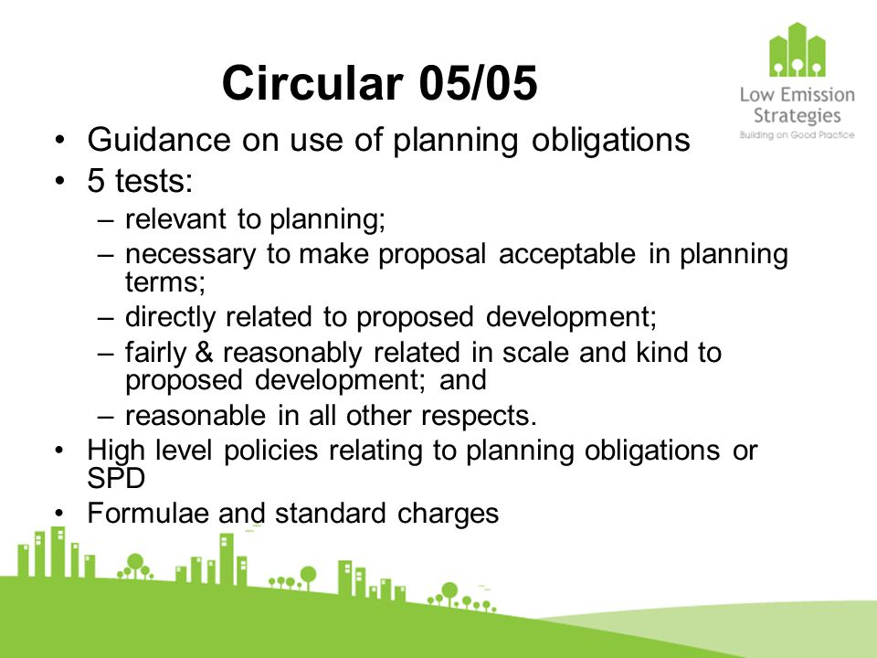 Community Infrastructure Levy (CIL) Part of proposals under Planning Act 2008.