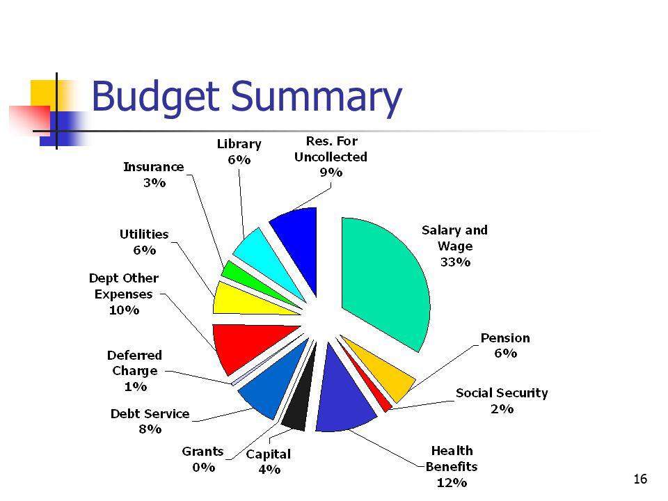 Budget Summary 16