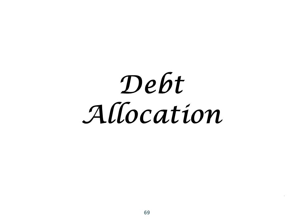 69 Debt Allocation