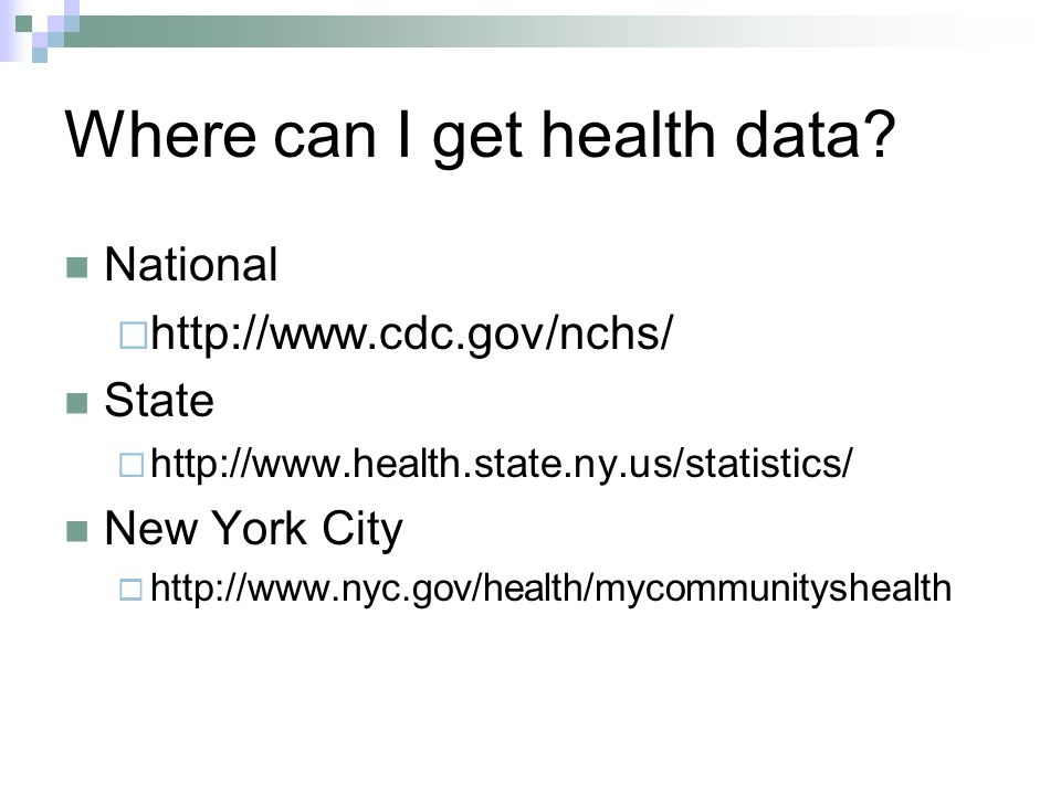 Where can I get health data.