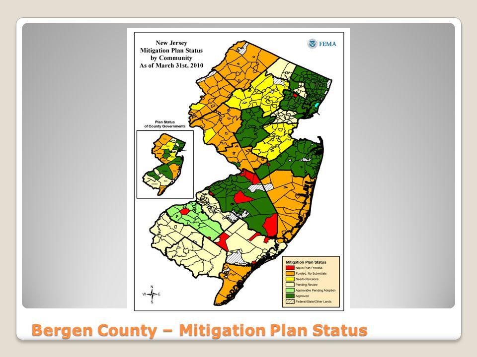 Bergen County – Mitigation Plan Status