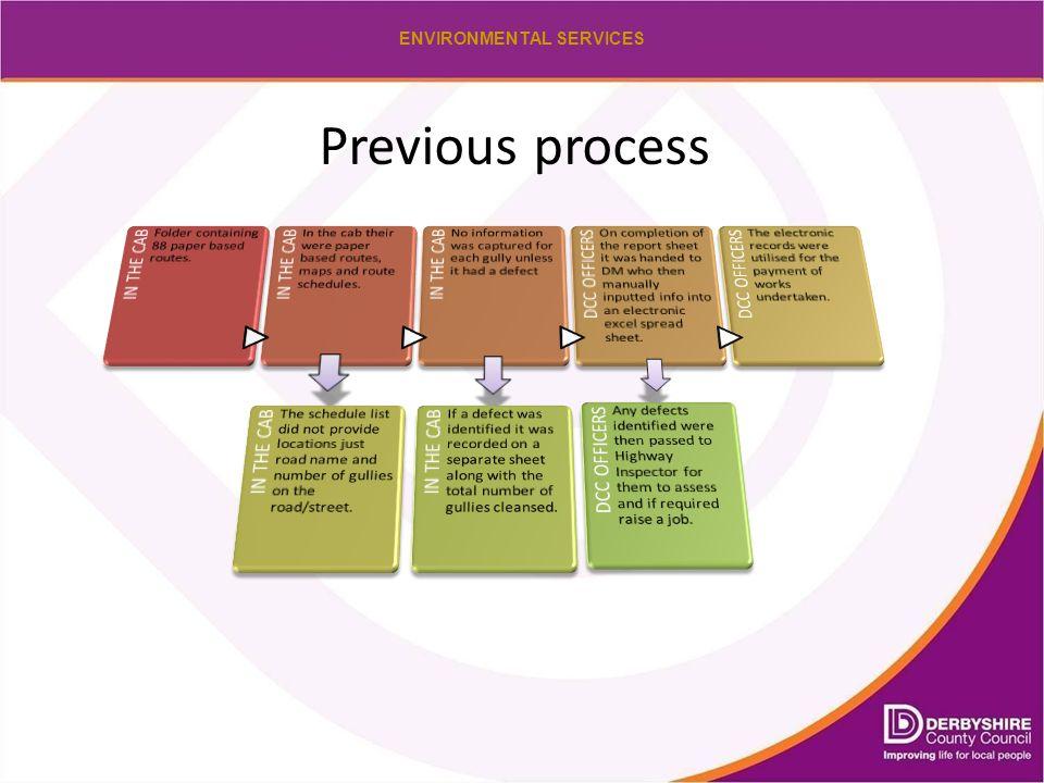 ENVIRONMENTAL SERVICES Previous process