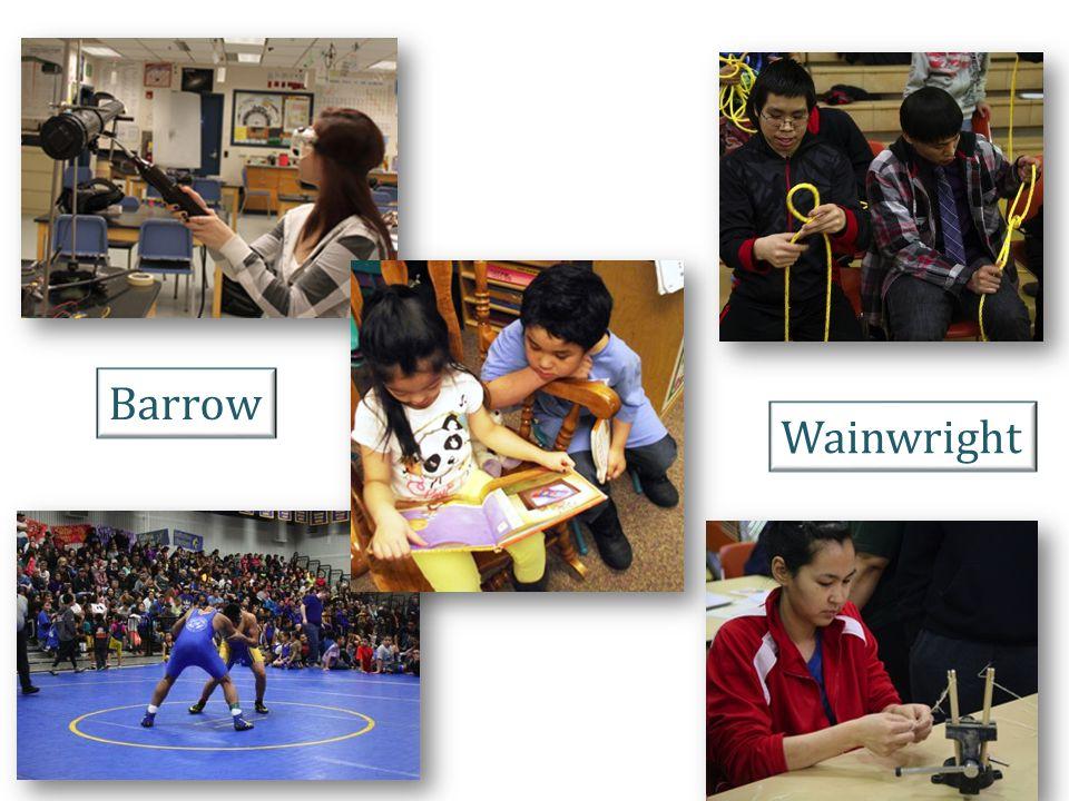 North Slope Borough School District Board of Education Board Members Top Row (Left to Right): Della Tagarook~Anaktuvuk Pass; Deborah Edwardson, President~Barrow; Amos Nashookpuk~Wainwright; Mary Sage, Clerk~Barrow.
