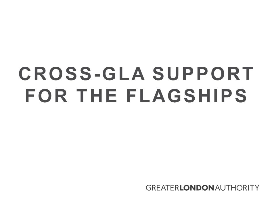 CROSS-GLA SUPPORT FOR THE FLAGSHIPS