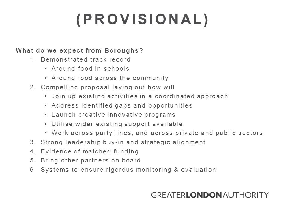 What do we expect from Boroughs.