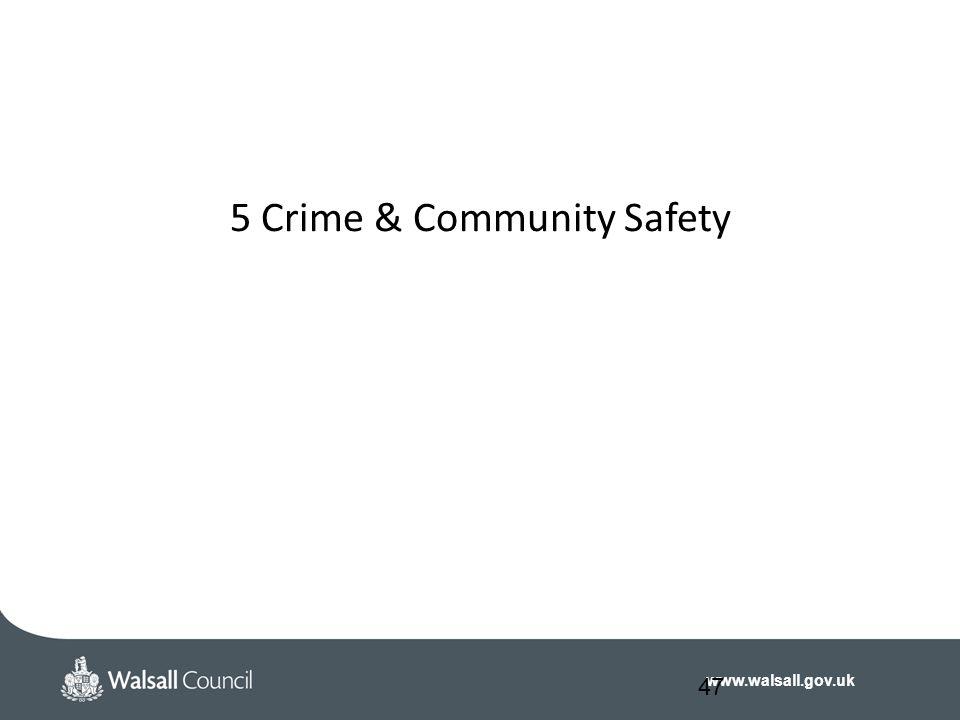 www.walsall.gov.uk 5 Crime & Community Safety 47