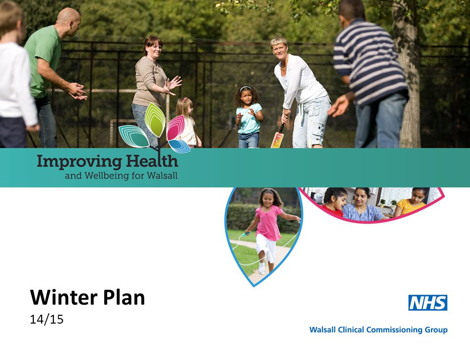 Context Overview Walsall CCG's Winter Plan is an integral part of its overall Surge Plan which draws together a number of documents aimed at both managing surges in activity from winter and unexpected surges in demand.