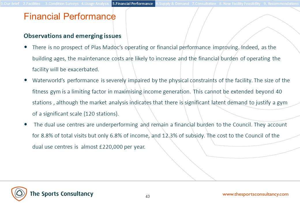 43 Observations and emerging issues There is no prospect of Plas Madoc's operating or financial performance improving.