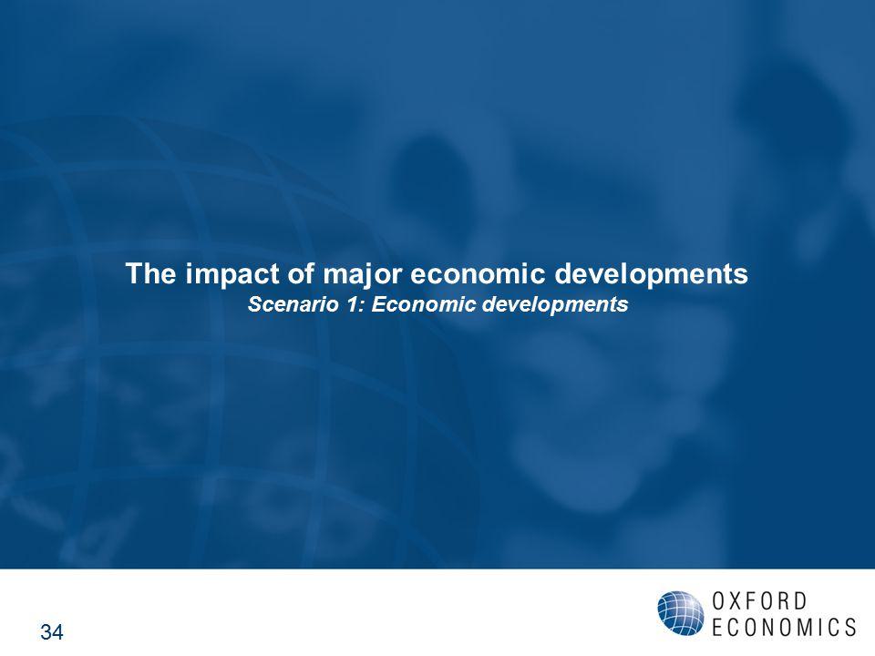The impact of major economic developments Scenario 1: Economic developments 34