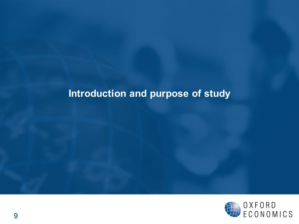 Introduction and purpose of study 9
