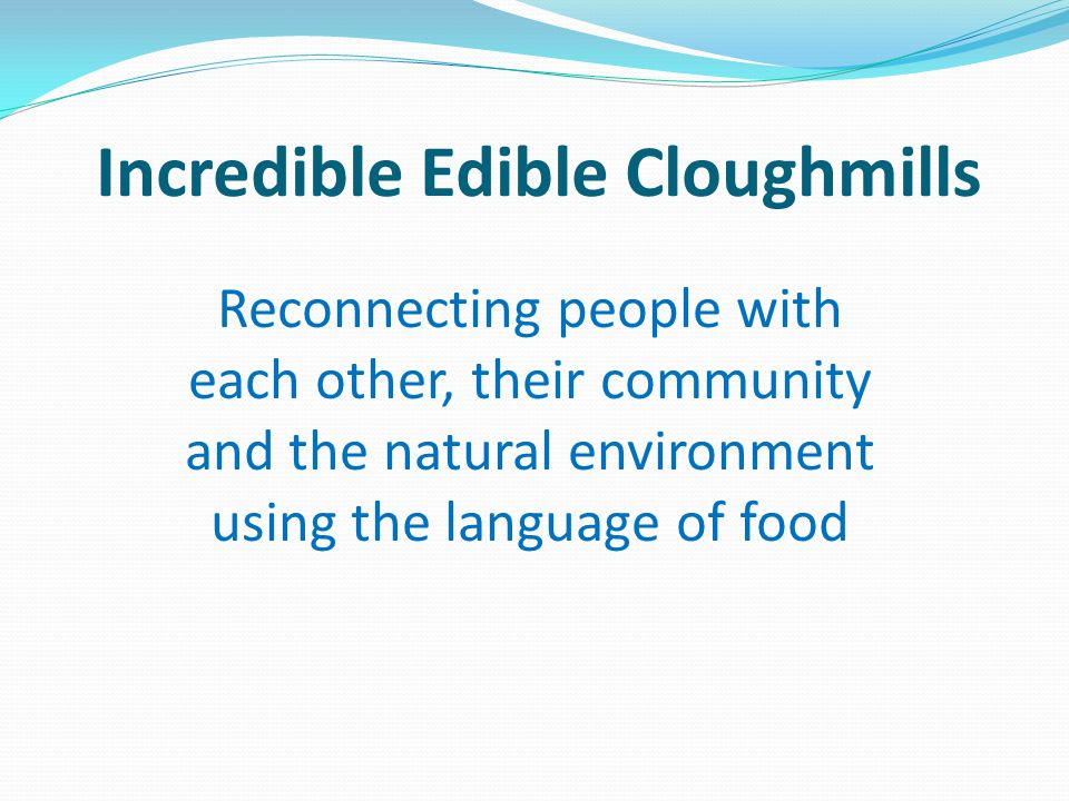Incredible Edible Cloughmills/Food for Free