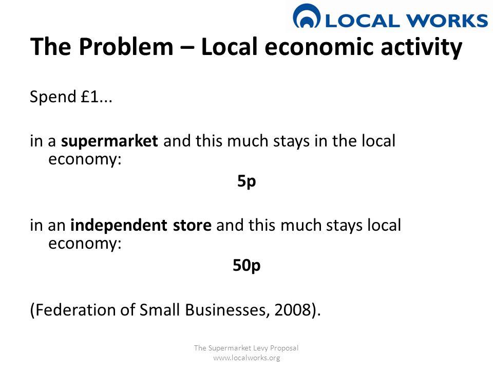 The Problem – Local economic activity Spend £1...
