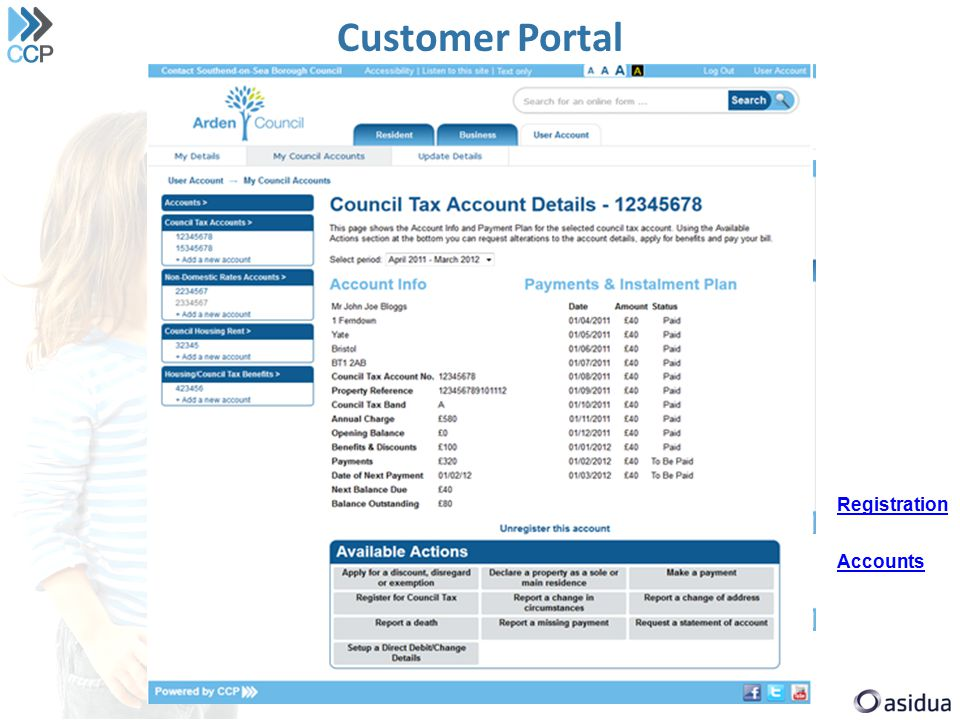 Customer Portal Registration Accounts