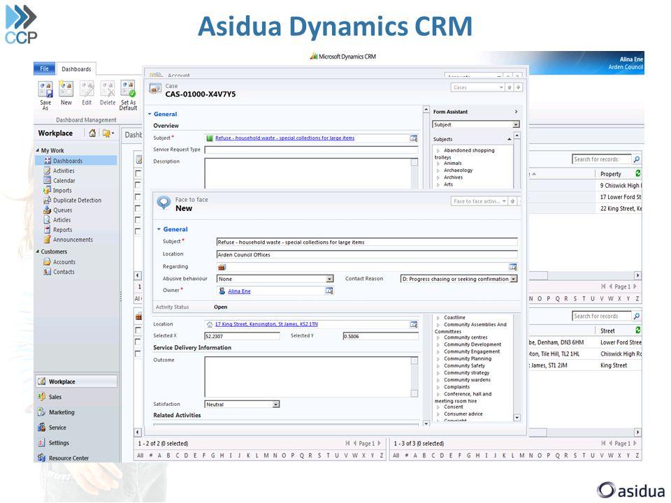 Asidua Dynamics CRM