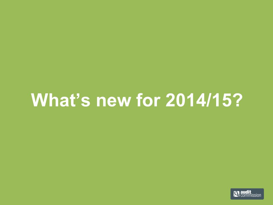 What's new for 2014/15?