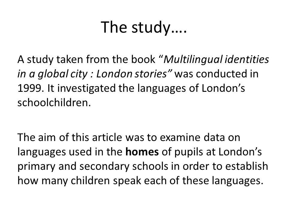 The study….
