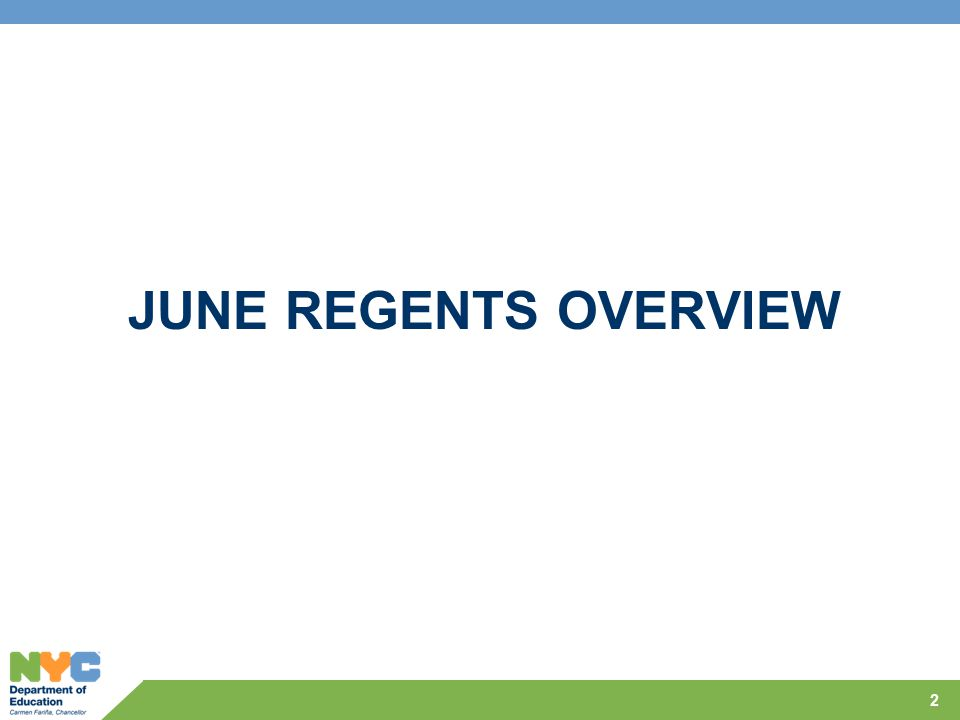 JUNE REGENTS OVERVIEW 2