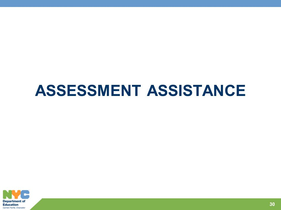 ASSESSMENT ASSISTANCE 30