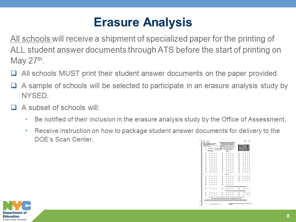 Scanning In June 2014 all Regents exams except will have two page answer documents for each student.