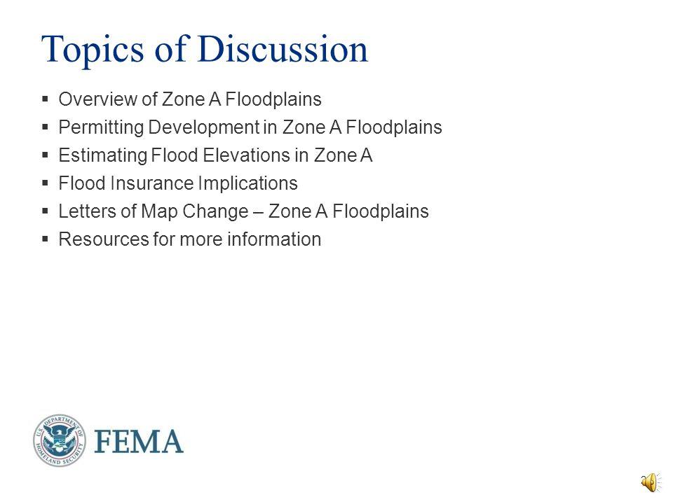 Managing Zone A Floodplains Jana Green, CFM Kim Dunn, P.E., CFM RAMPP FEMA Region III National Flood Insurance Program Essentials and Best Practices