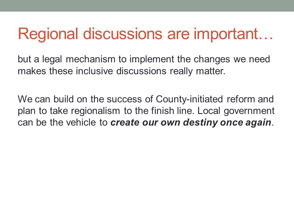 Regional discussions are important… but a legal mechanism to implement the changes we need makes these inclusive discussions really matter. We can bui