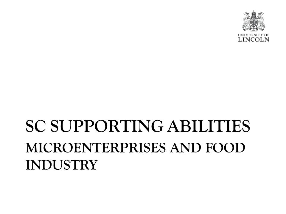 MICROENTERPRISES AND FOOD INDUSTRY SC SUPPORTING ABILITIES