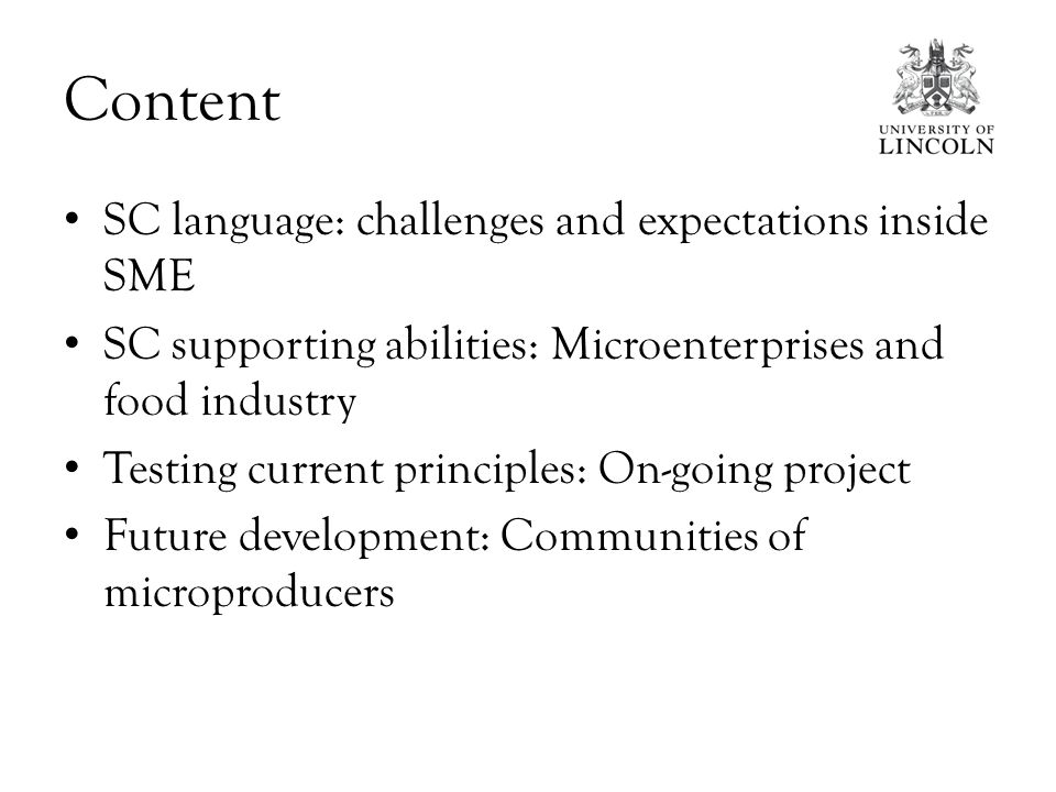 CHALLENGES AND EXPECTATIONS INSIDE SME SC LANGUAGE