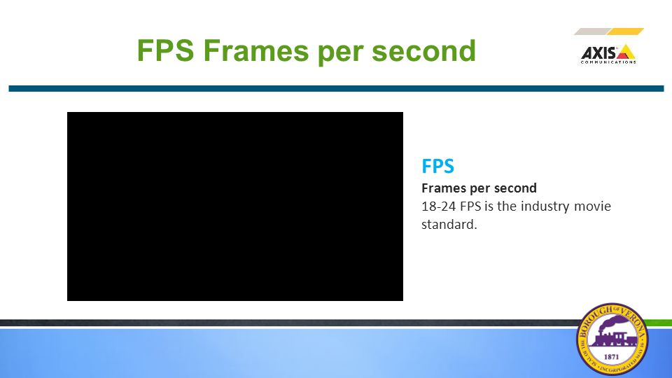 FPS Frames per second FPS Frames per second 18-24 FPS is the industry movie standard.