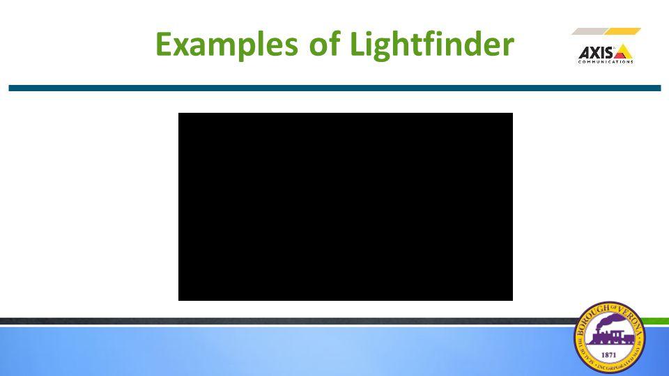 Examples of Lightfinder