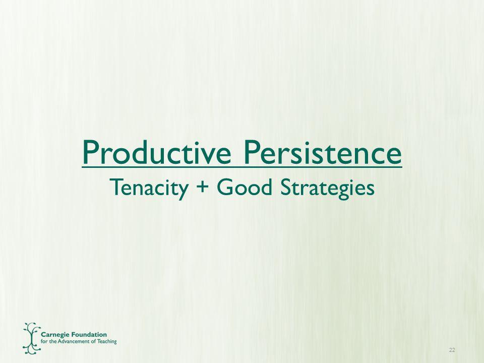 22 Productive Persistence Tenacity + Good Strategies