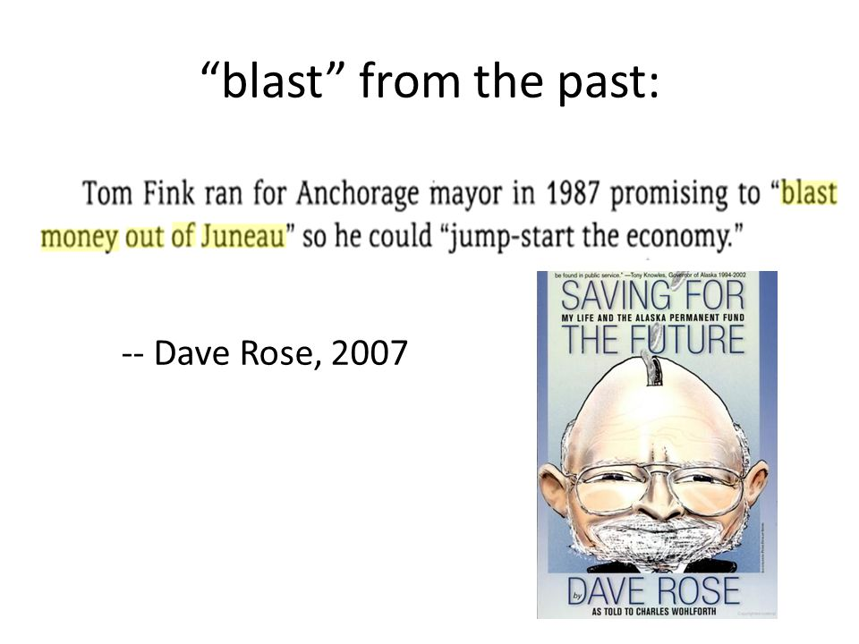 blast from the past: -- Dave Rose, 2007