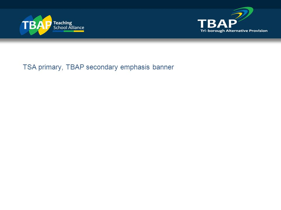 TSA only emphasis banner