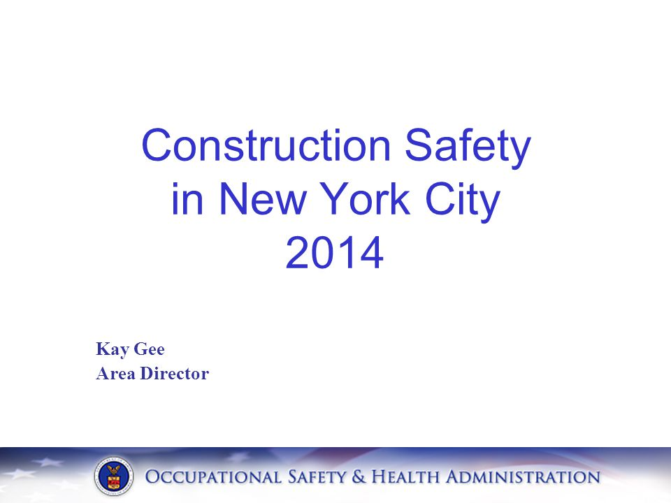 Kay Gee Area Director Construction Safety in New York City 2014