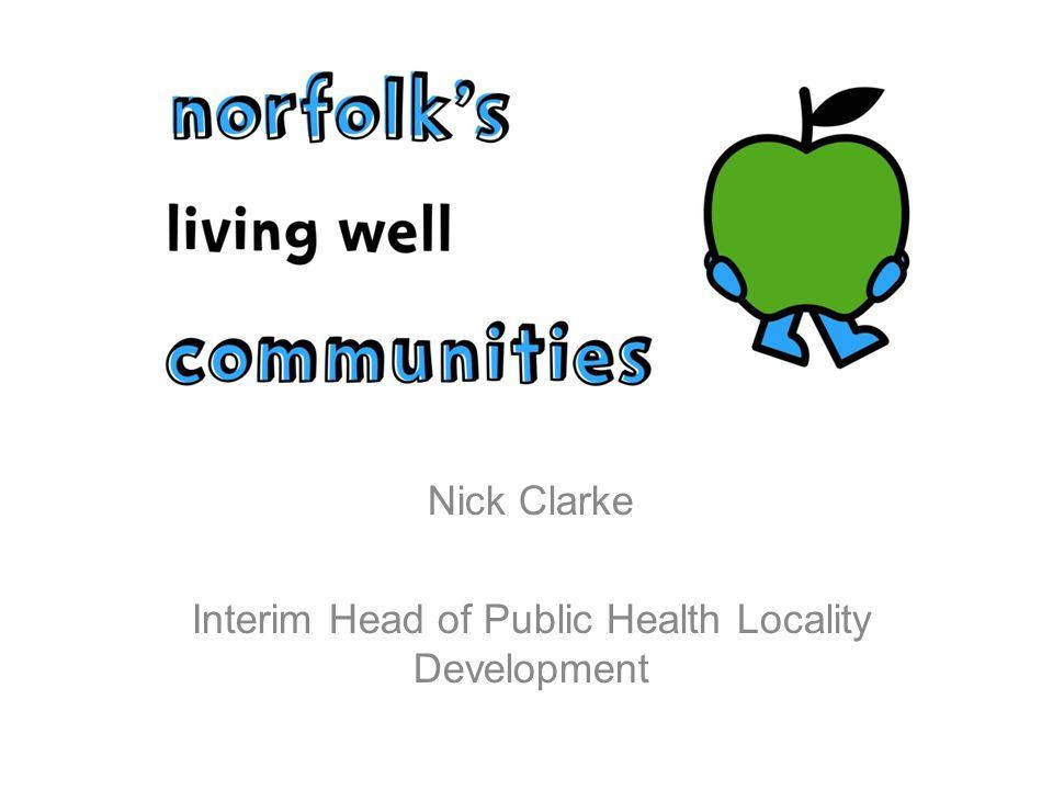 Nick Clarke Interim Head of Public Health Locality Development
