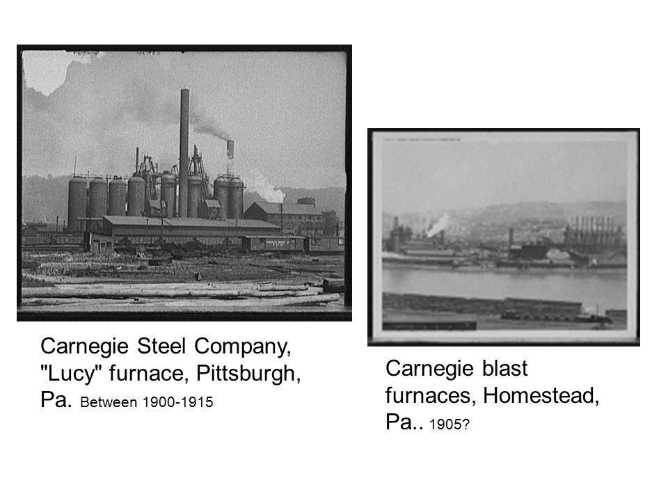 Carnegie blast furnaces, Homestead, Pa.. 1905.