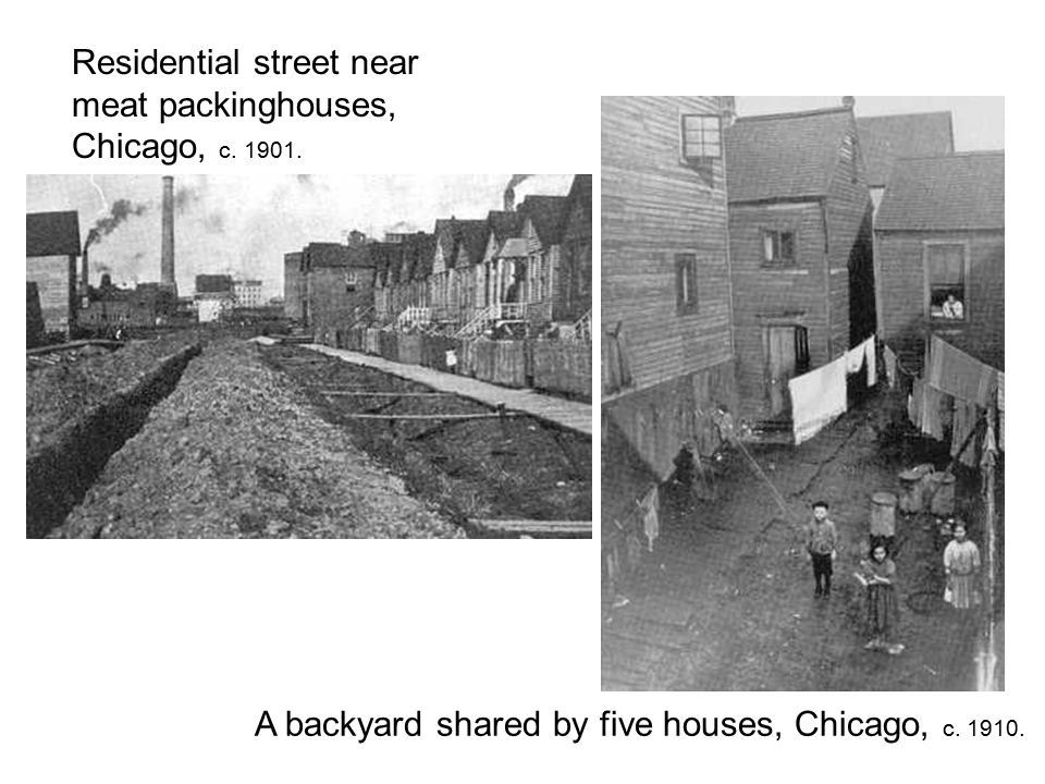 Residential street near meat packinghouses, Chicago, c.