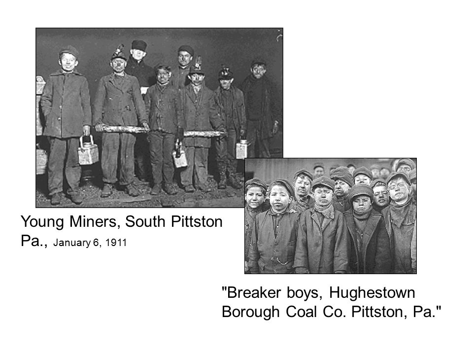Young Miners, South Pittston Pa., January 6, 1911 Breaker boys, Hughestown Borough Coal Co.