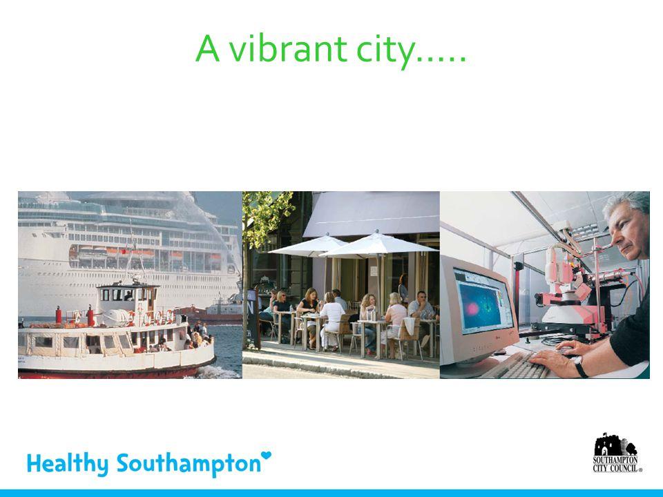 A vibrant city…..