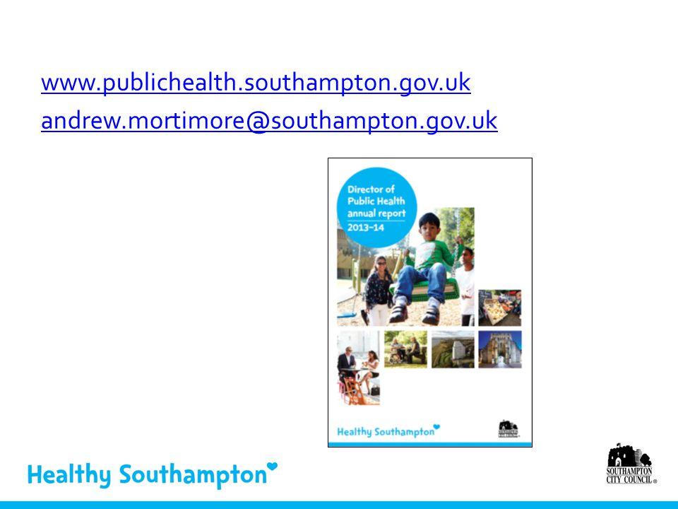 www.publichealth.southampton.gov.uk andrew.mortimore@southampton.gov.uk