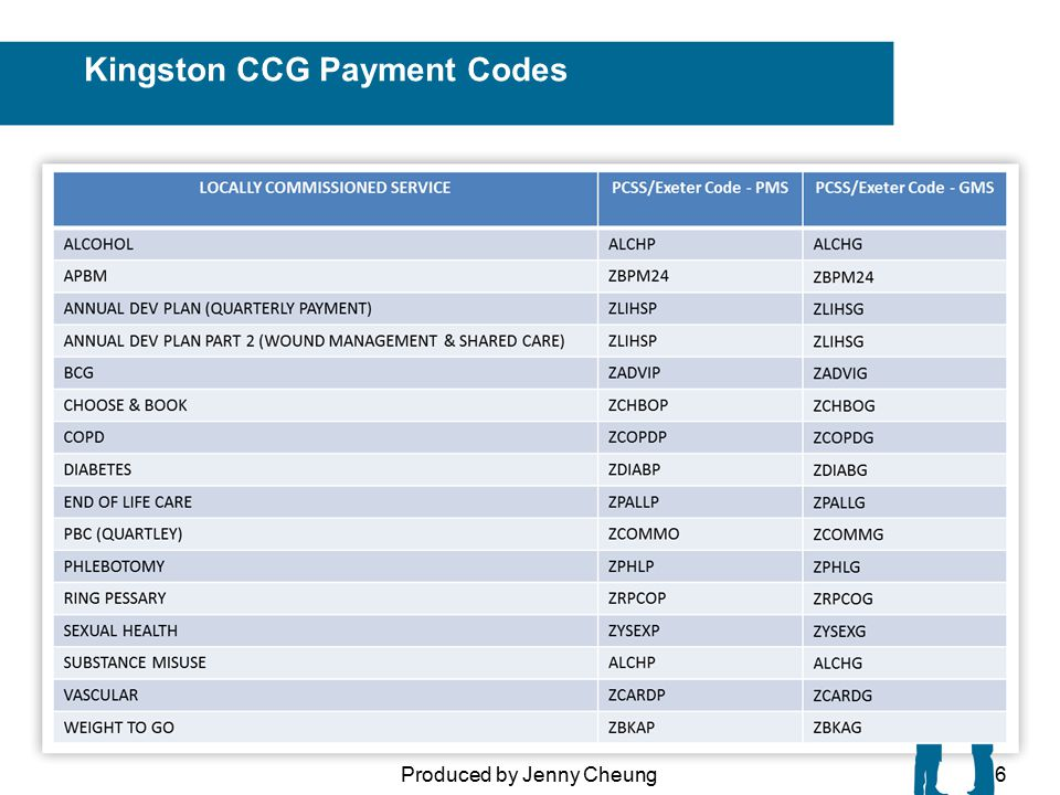 Kingston CCG Payment Codes Produced by Jenny Cheung6